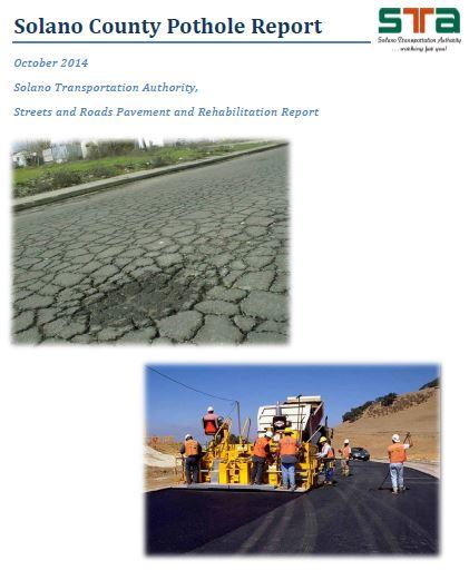 Solano Pothole Report - Solano Transportation Authority